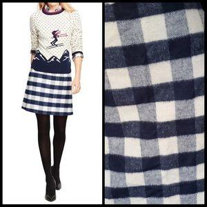 Brooks Brothers fleece checked skirt